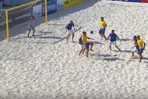 В финале чемпионата мира по пляжному футболу сыграют Таити и Бразилия