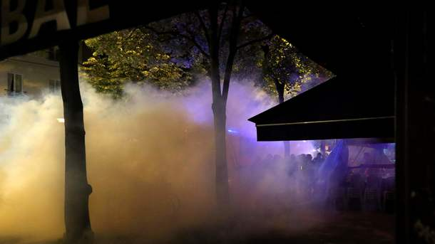 Встолице франции милиция разогнала протестующих против программы Макрона
