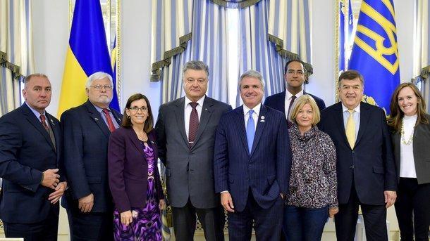 Президент Украины обсудил сконгрессменами российскую агрессию