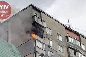 В Киеве горела многоэтажка