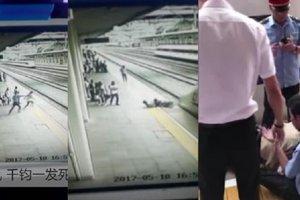 Железнодорожник спас женщину от прыжка под поезд