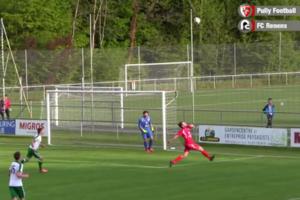 Швейцарский футболист забил через себя невероятный гол в свои ворота