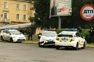 В Кривом Роге столкнулись три полицейских авто