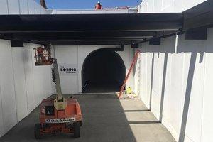 Элон Маск показал разгон платформы в тоннеле под Лос-Анджелесом