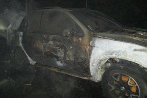 На Закарпатье сгорела иномарка