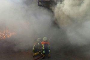 Пожар на территории фабрики под Киевом тушили более шести часов