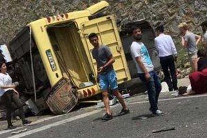 В Турции перевернулся бус с российскими туристами: пострадали почти 20 человек