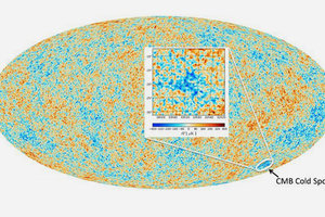 Ученые нашли место столкновения двух вселенных