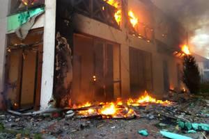 Руины и пламя: боевики нанесли удар по Широкино