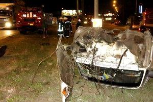 Подробности ночного ДТП в Киеве: авто разорвалось на четыре части и могло взорваться