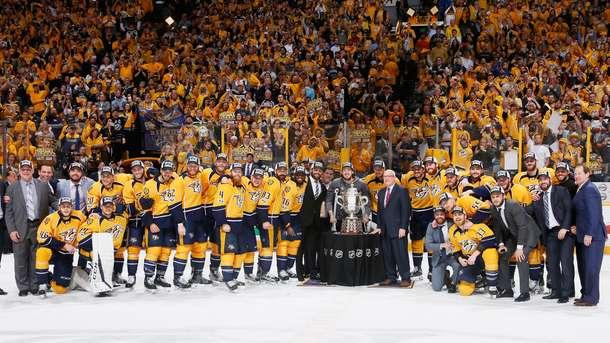 Команда НХЛ «Нешвилл Предаторз» впервый раз вистории вышла вфинал Кубка Стэнли