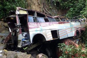 В Индии автобус с паломниками упал в реку: 21 человек погиб