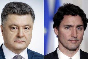 """Порошенко и Трюдо """"сверили часы"""" накануне саммита НАТО"""