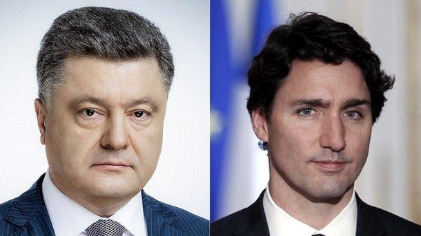 Порошенко объявил Трюдо опредпосылках для разговора повизовой либерализации