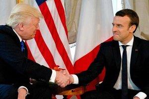 Макрон объяснил мощное рукопожатие с Трампом