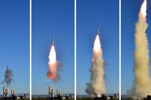 Появилось видео испытания новой системы ПВО в КНДР