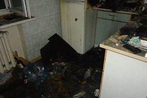 В Киеве мужчина чуть не сгорел в собственной квартире