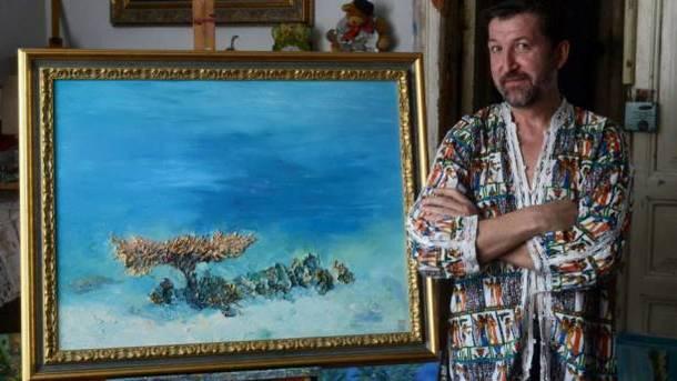 Скончался известный украинский художник Белозор, писавший картины под водой
