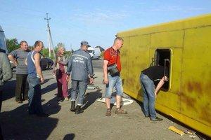 Спасатели показали место жесткого ДТП в Запорожской области