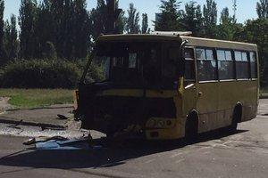 В Киеве столкнулись автобус с пассажирами и маршрутка