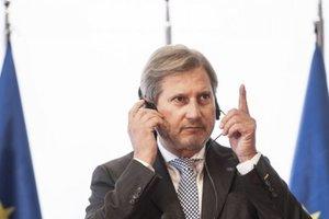 Еврокомиссар Хан 2 июня посетит линию разграничения на Донбассе