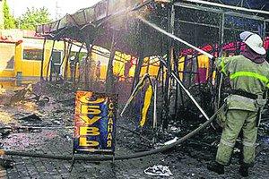 В Харькове горел рынок