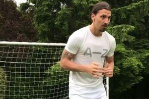 Златан Ибрагимович приступил к тренировкам после тяжелой травмы колена