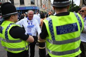 Полиция перекрыла улицы в центре Кардиффа перед финалом Лиги чемпионов