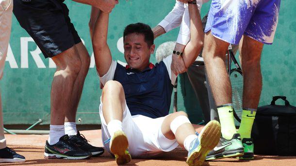 Испанский теннисист Николас Альмагро покидал корт в слезах. Фото AFP
