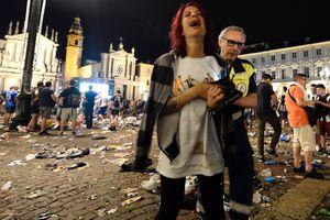 Появилось видео начала давки в Турине, в результате которой пострадали 600 человек