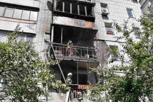 Под Киевом горела многоэтажка, огонь уничтожил несколько балконов