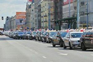 В Польше протестуют таксисты