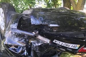 Авария под Одессой: машина перевернулась на крышу
