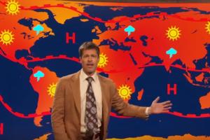 Брэд Питт выступил в роли пессимистичного ведущего прогноза погоды