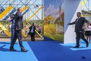 """Безвиз в действии: Порошенко открыл символическую """"дверь в ЕС"""""""