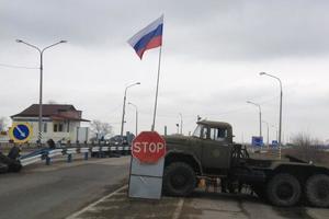 На границе Крыма устроили облаву на украинскую еду