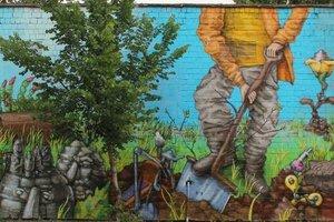 В Киеве на Оболони появился новый исторический мурал