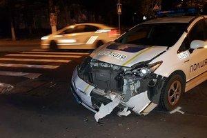 В центре Николаева полицейские попали в ДТП