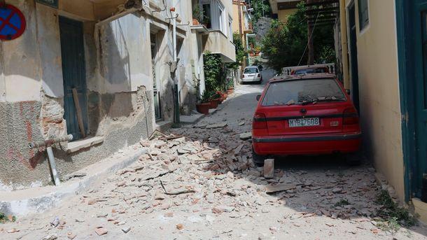 В итоге землетрясения навостоке Греции разрушены несколько домов наострове Лесбос