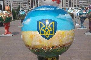 В МИД Казахстана прокомментировали появление в Астане карты Украины без Крыма