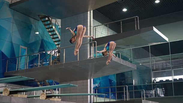 Украинки Люлько иЛыскун— бронзовые призеры Евро всинхронных прыжках свышки