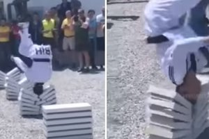 16-летний мастер таэквондо разбил головой 90 плит за рекордные 25 секунд