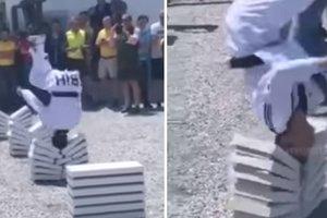16-летний мастер таэквондо разбил головой 90 плит за рекордный 25 секунд