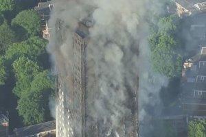 Жуткие последствия пожара в многоэтажке Лондона: опубликовано видео с высоты