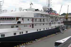 В Одессу прибыл шикарный лайнер из Сочи