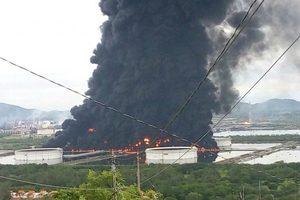На нефтеперерабатывающем заводе в Мексике произошел масштабный пожар