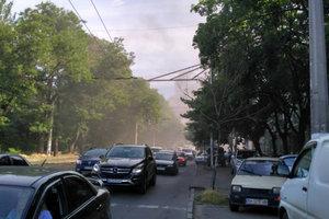 В Одессе на Куликовом поле произошел пожар