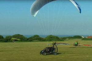 Француз пересек Ла-Манш на летающей машине