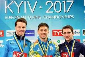 Украина заняла второе место в медальном зачете чемпионата Европы по прыжкам в воду