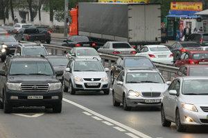 В Киеве – огромная пробка из-за дорожных работ